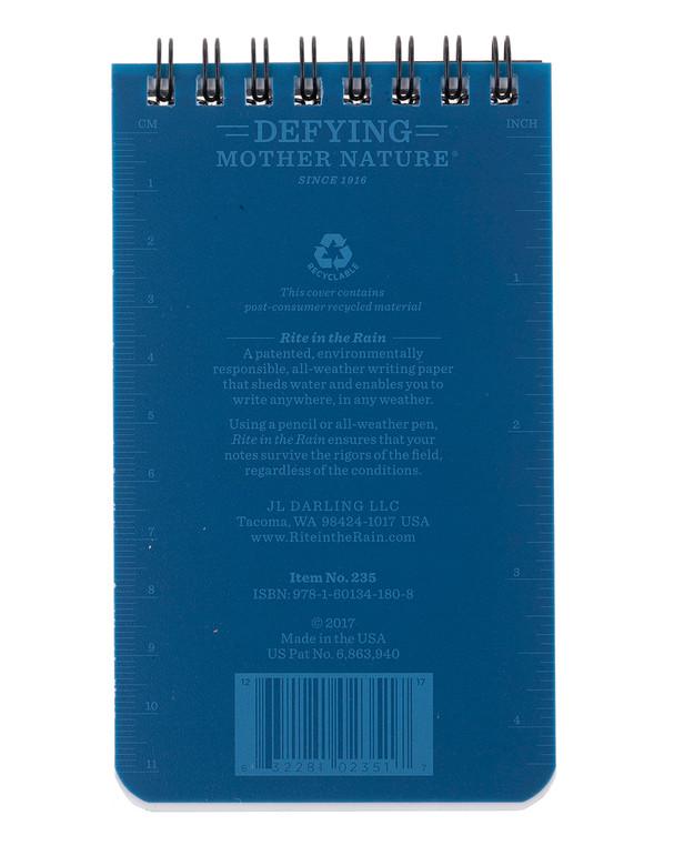Rite in the Rain 3 X 5 Notebook Blue