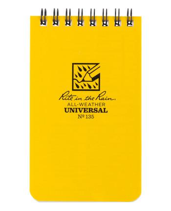 Rite in the Rain - 3 X 5 Notebook Yellow