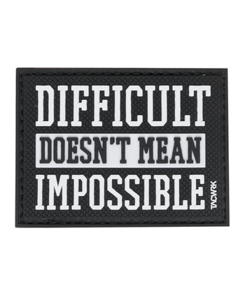 TACWRK - Difficult Impossible Patch Black