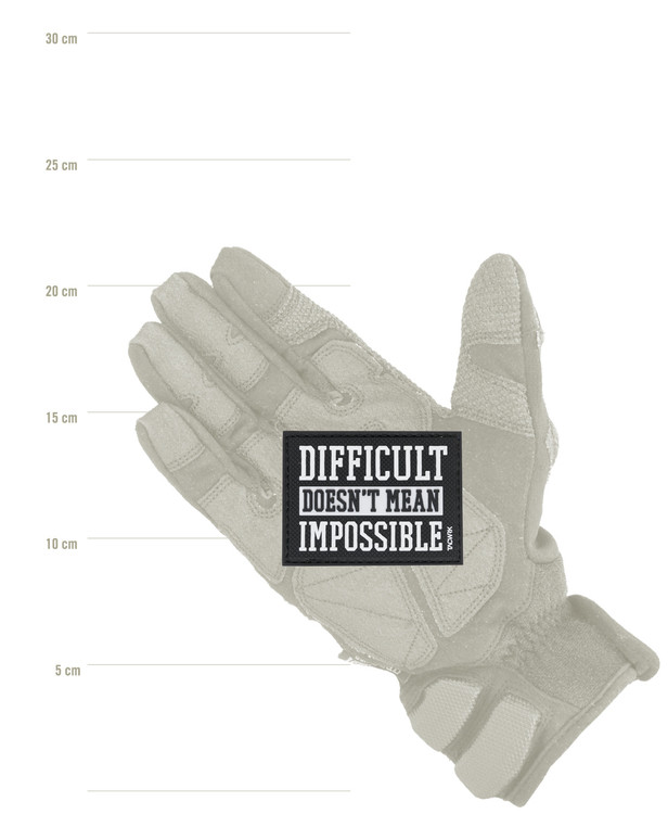 TACWRK Difficult Impossible Patch Black