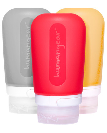 humangear - GoToob 100ml Set of 3 TRANSPARENT/ROT/ORANGE