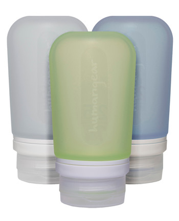 humangear - GoToob 100ml 3er Pack TRANSPARENT/GRÜN/BLAU