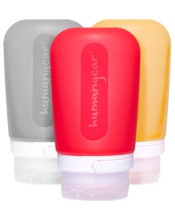 humangear - GoToob 74ml Set of 3 TRANSPARENT/RED/ORANGE