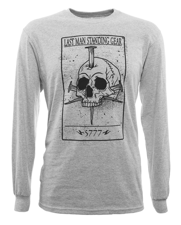 LMSGear Longsleeve Death Card Skull Sports Grey