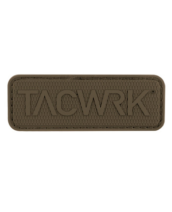 TACWRK - Square Rubber Patch Coyote Brown