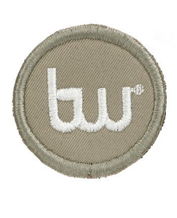 TACWRK - Big Round Patch gestickt Tan