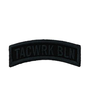 TACWRK - Bow Patch Gestickt Schwarz
