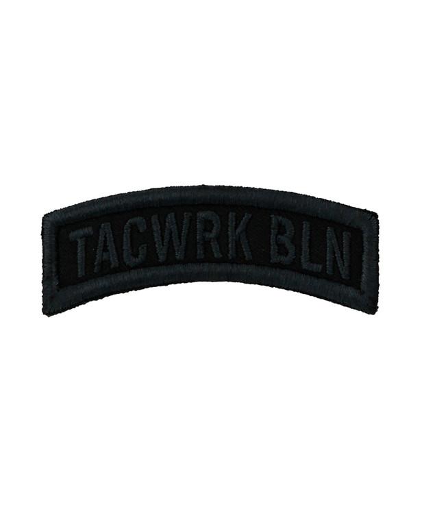 TACWRK Bow Patch Gestickt Schwarz