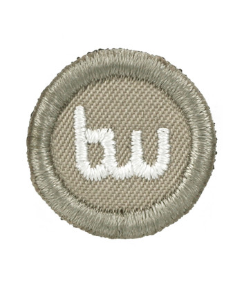 TACWRK - Small Round Patch Gestickt Tan