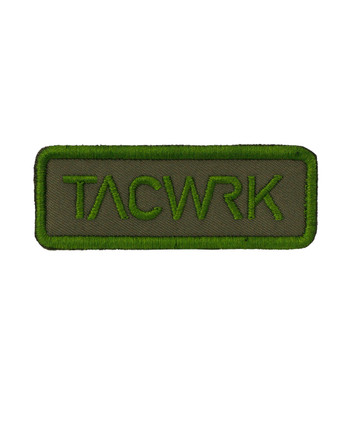 TACWRK - Square Patch Gestickt Oliv