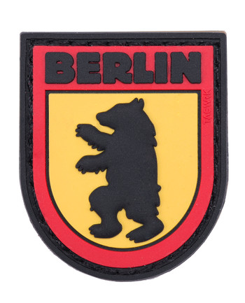 TACWRK - Berlin Bear Patch Black/Red/Yellow