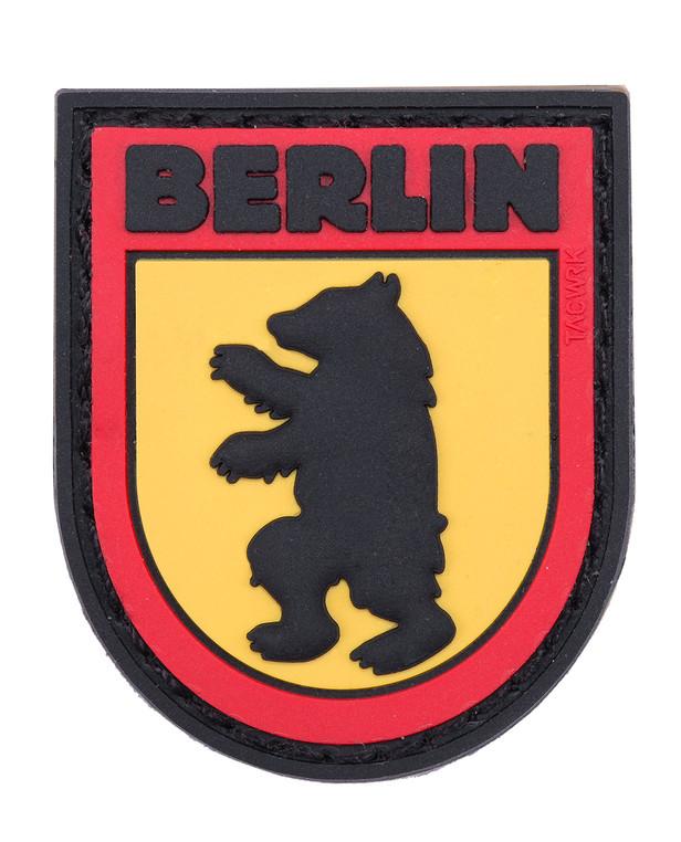 TACWRK Berlin Bear Patch Black/Red/Yellow
