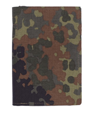 md-textil - Dokumentenmappe A6 mit Reißverschluss 5 Farb Flecktarn