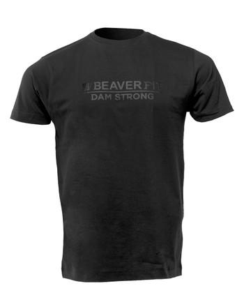 BeaverFit - Dam Strong Logo T-Shirt Black on Black