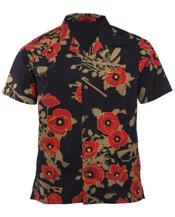 OTTE Gear - Aloha Shirt Poppies of War Black Schwarz