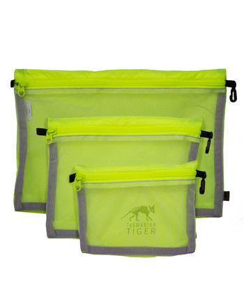 TASMANIAN TIGER - Mesh Pocket Set Safety Yellow Gelb
