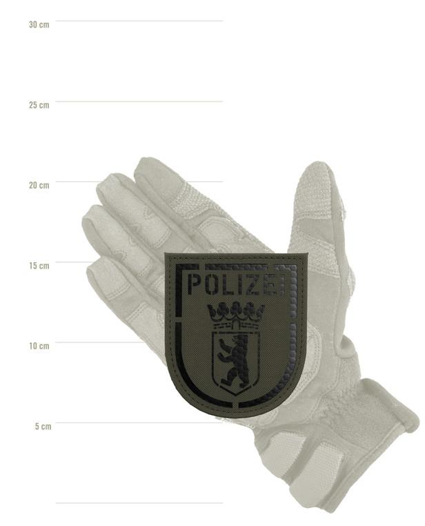 TACWRK Police Berlin IR Patch Stonegrey Olive
