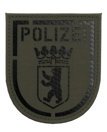 TACWRK - Polizei Berlin IR Patch Steingrau Oliv