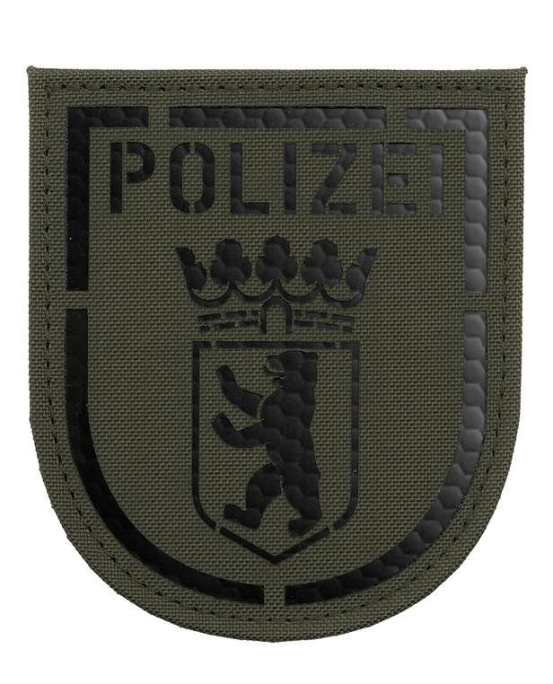 TACWRK Polizei Berlin IR Patch Steingrau Oliv