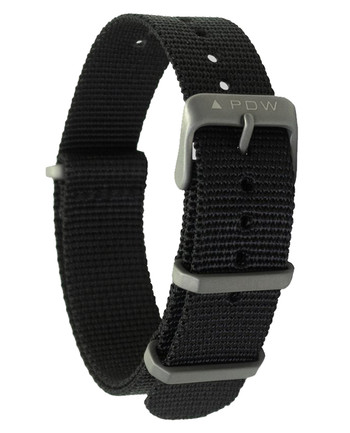 Prometheus Design Werx - Ti-NATO Strap 22mm Black Schwarz