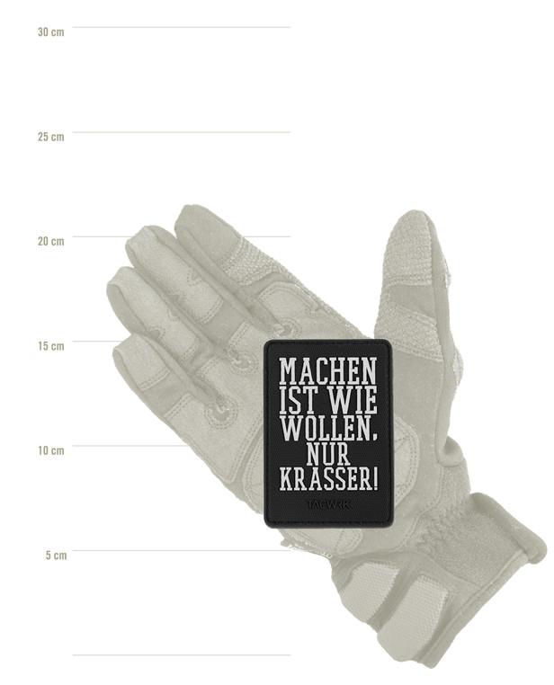 TACWRK Machen Wollen Rubber Patch Black / White