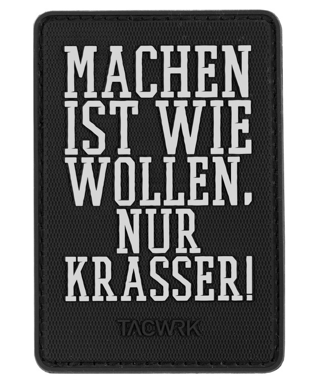 TACWRK Machen Wollen Rubber Patch Black / White