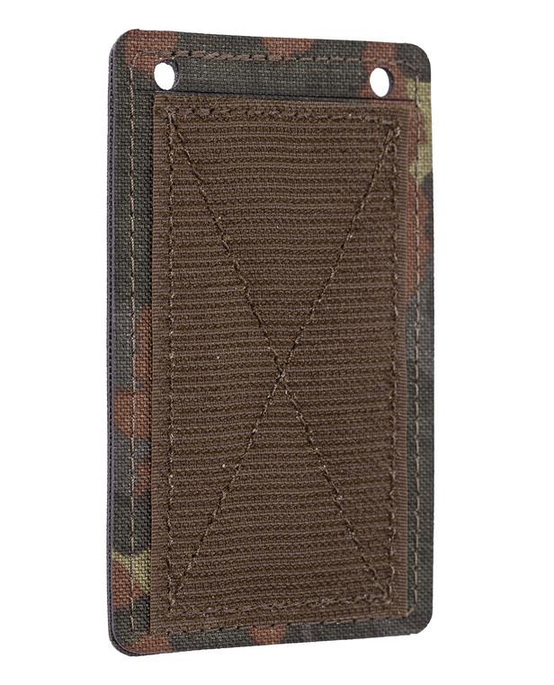 md-textil ID Card Holder Hook and Loop 5 Farb Tarndruck