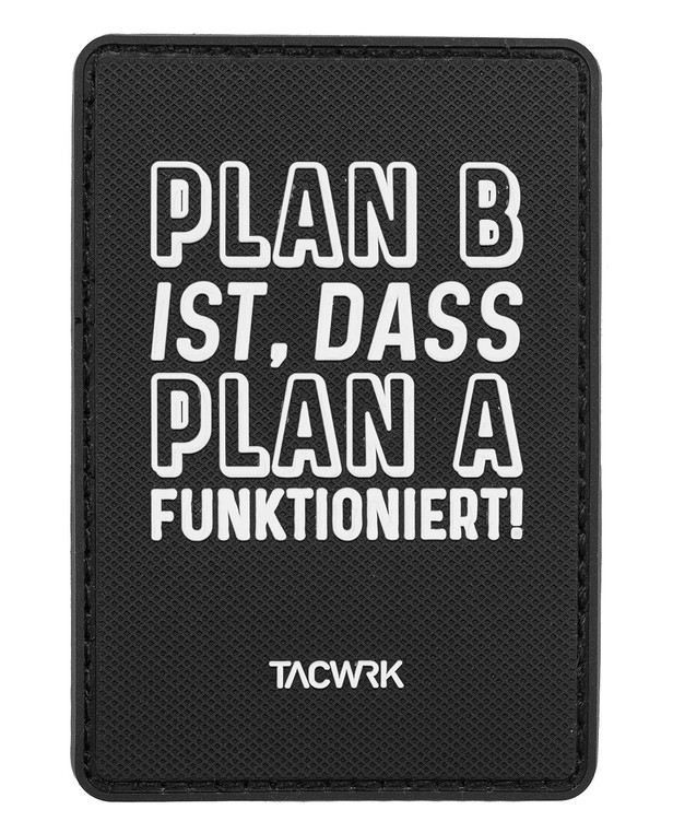 TACWRK Plan B Rubberpatch Black Schwarz