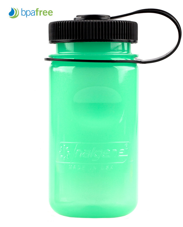 Nalgene DISCONTINUED Everyday Glow Wide Mouth, 1 L, green