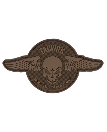 TACWRK - Wings Patch Round Coyote