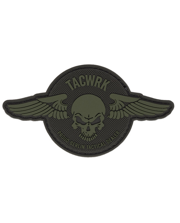 TACWRK Wings Patch Round Olive