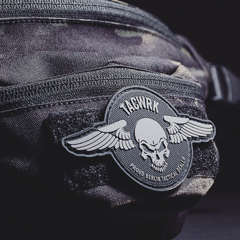 TACWRK - Wings Patch Round Black