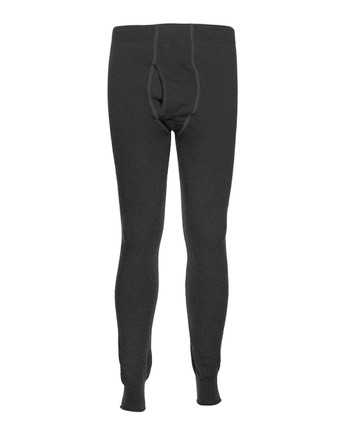 Woolpower - Long Johns Man 400 w/fly Black