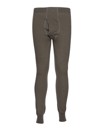Woolpower - Long Johns Man 400 w/fly Pine green