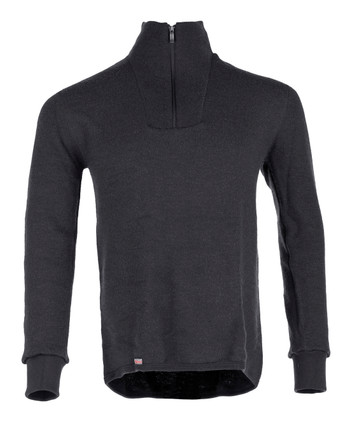 Woolpower - Zip Turtleneck 400 Schwarz