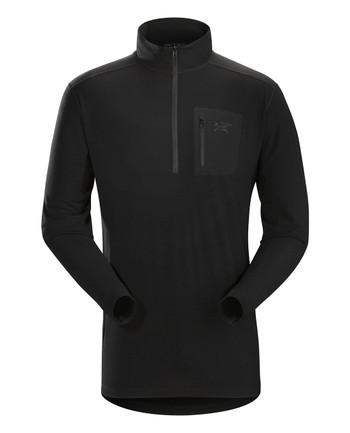 Arc'teryx LEAF - Cold WX Zip Neck AR Men's (Wool) Black