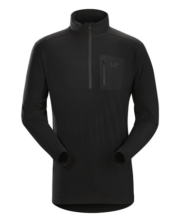Arc'teryx LEAF - Cold WX Zip Neck AR Men's (Wool) Black Schwarz