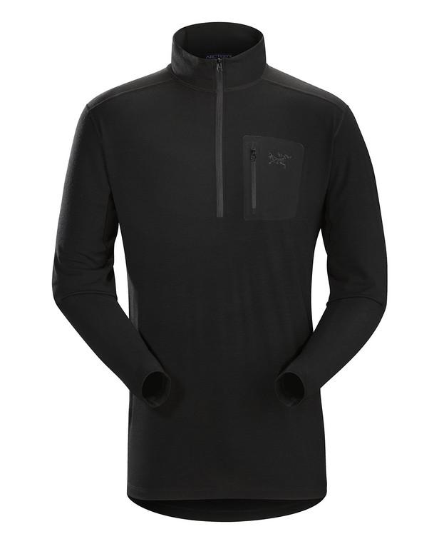 Arc'teryx LEAF Cold WX Zip Neck AR Men's Wool Black