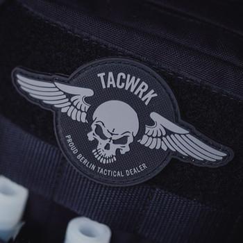TACWRK - Wings Patch Rund Schwarz