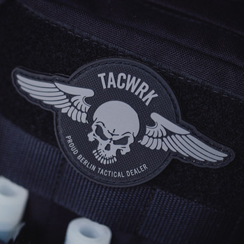 TACWRK - Wings Patch Rund Oliv