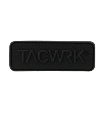 TACWRK - Square Rubber Patch Black