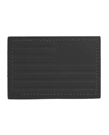 GoRuck - Reverse Flag Black Leather Patch