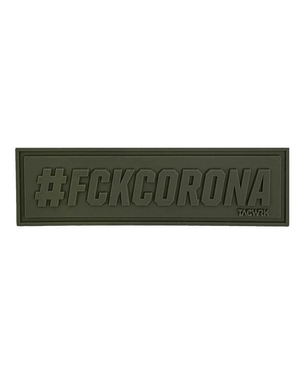 TACWRK #FCKCORONA Patch Oliv