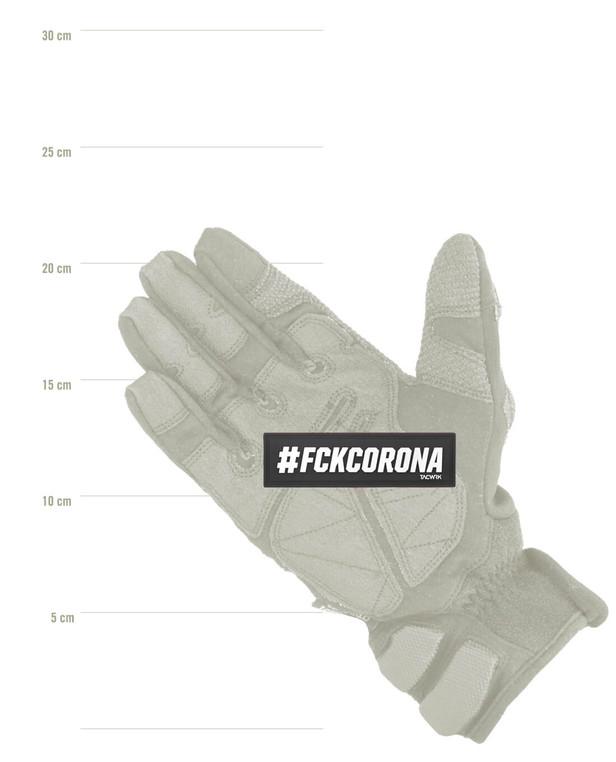 TACWRK #FCKCORONA Patch Black / White