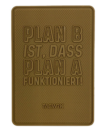 TACWRK - Plan B Rubberpatch Coyote