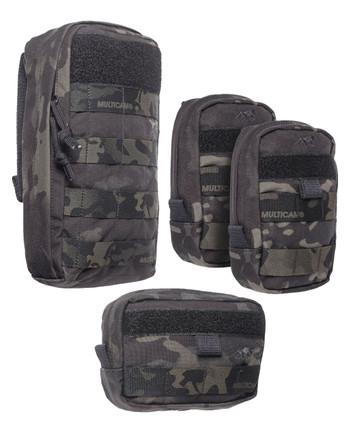TACWRK - No-Brainer Pouch Set Multicam Black