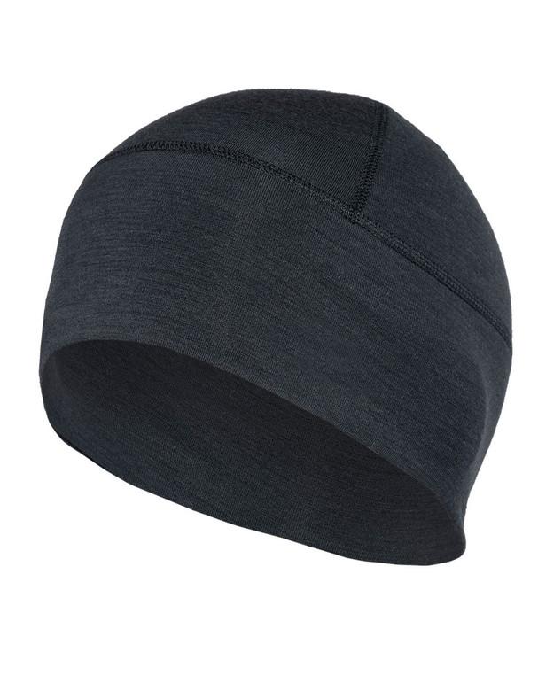 DNS Alpha Merino Beanie TACWRK Logo Black Schwarz