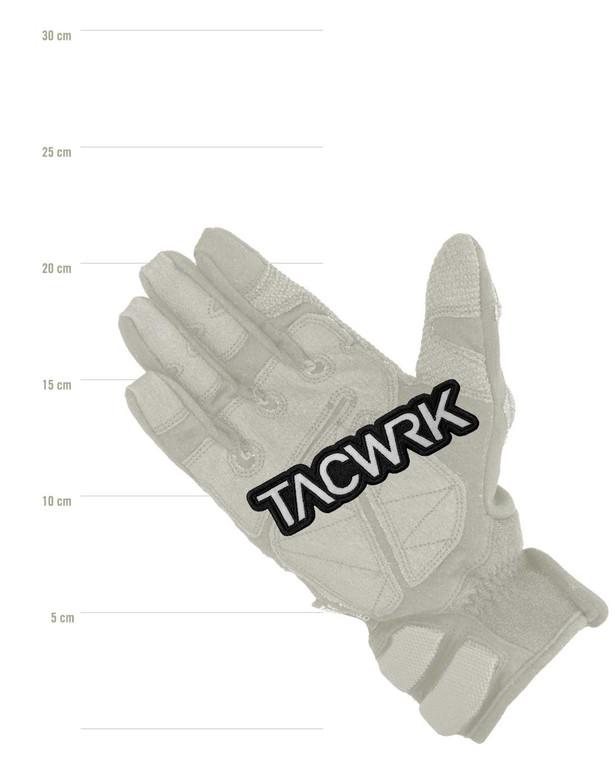TACWRK Cutout Patch Gestickt Schwarz