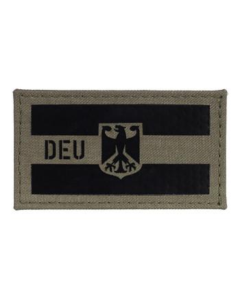 TACWRK - Deutschland Flagge Camo: Steingrau Oliv, Folie: IR SOLAS