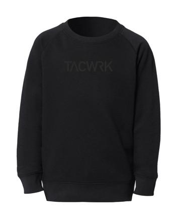TACWRK - Kids Sweatshirt Black on Black